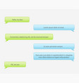 chat frames message babble for your text vector image vector image