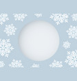 christmas card design of white snowflake vector image
