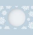 christmas card design white snowflake vector image vector image