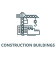 construction buildings line icon vector image vector image