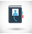 Contact book single icon vector image vector image