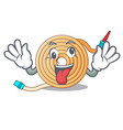 crazy the water hose mascot vector image vector image