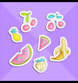 cute funny girl teenager colored stickers set vector image