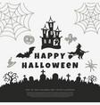 digital black happy halloween vector image vector image