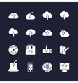 Download on different devices and upload in cloud vector image vector image