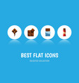 flat icon bitter set of bitter sweet delicious vector image vector image