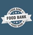food bank ribbon food bank round white sign food vector image vector image