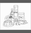 food stuffs vector image