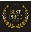 gold laurel wreath with sample text vector image vector image
