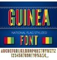 Guinea Flag Font vector image vector image