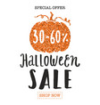 halloween sale promotion flyer template vector image