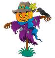 halloween scarecrow theme image 1 vector image vector image