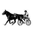 harness racing vector image vector image