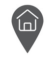 home location glyph icon real estate and home vector image vector image