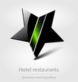 Hotel restaurants business icon