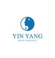 human head yin yang vector image vector image