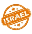 Israel grunge icon vector image vector image