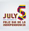 july 5 venezuela independence day congratulatory vector image vector image