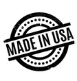 made in usa rubber stamp vector image vector image