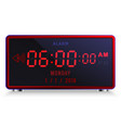 modern digital led alarm clock with calendar vector image vector image