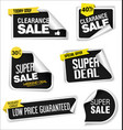 modern sale banners and labels collection 09 vector image vector image