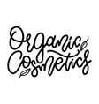 organic collection - lettering text for the vector image