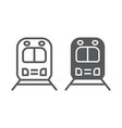 rail road trip line and glyph icon transport and vector image vector image