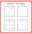 repeat pattern working pages for kids vector image vector image