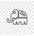 republican concept linear icon isolated on vector image