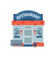 restaurant building facade with signboard flat vector image
