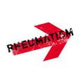 rheumatism rubber stamp vector image