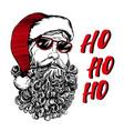 Santa claus christmas symbol hand drawn