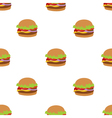 Seamless pattern with flat style burger image vector image