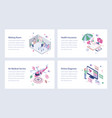 set medical and healthcare vector image