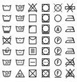 set of icons on clothing label vector image vector image