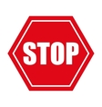 stop danger precaution sign traffic vector image