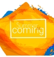 Summer is coming vector image vector image