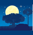 the night landscape on vector image vector image