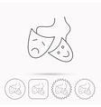 Theater masks icon Drama and comedy sign vector image vector image