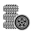 tires - tire service icon vector image vector image