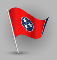 triangle american state tennessee flag vector image