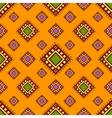 Tribal orange seamless pattern vector image vector image