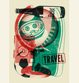 typographical retro grunge travel poster vector image vector image
