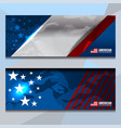 usa banner design vector image vector image