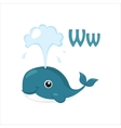 Whale Funny Alphabet Animal vector image