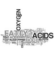what do essential fatty acids do in your body vector image vector image