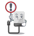 with sign hard drive in shape of mascot vector image vector image