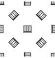 wooden tricuspid window pattern seamless black vector image vector image