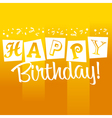 Yellow Birthday Greeting Card vector image vector image