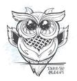 Owl - time to sleep vector image